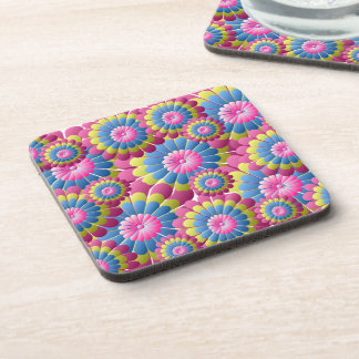 Psychedelic Hippy Flower Power Beverage Coaster