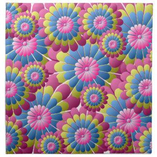 Psychedelic Hippy Flower Power Napkin
