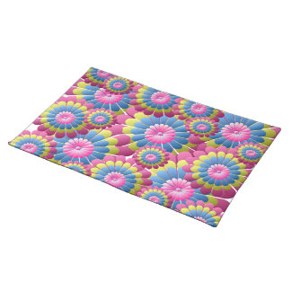 Psychedelic Hippy Flower Power Placemat