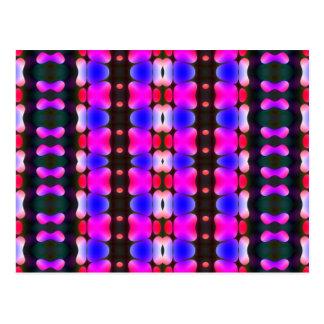 Psychedelic Hippy Stripes Pink Postcard