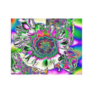 Psychedelic Hollyhock Canvas Print
