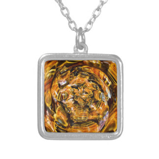 Psychedelic Honeybee Portal Silver Plated Necklace
