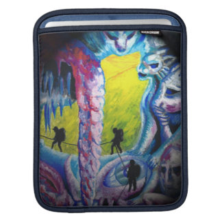 psychedelic ice cave iPad sleeve
