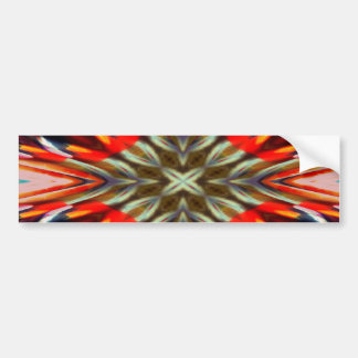 Psychedelic Illusion Abstract Bumper Sticker