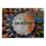 Psychedelic Imagine Mosaic, Strawberry Fields 01 Greeting Card