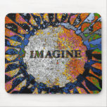 Psychedelic Imagine Mosaic, Strawberry Fields 01 Mousepads