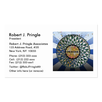 Psychedelic Imagine Mosaic, Strawberry Fields B1 Double-Sided Standard Business Cards (Pack Of 100)