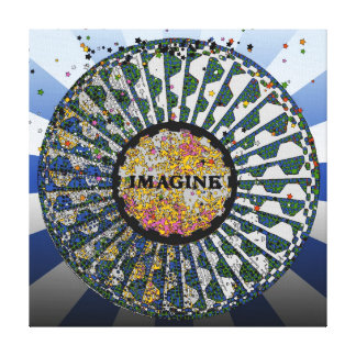 Psychedelic Imagine Mosaic Strawberry Fields B1 Canvas Prints