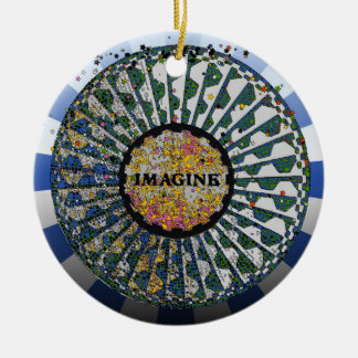 Psychedelic Imagine Mosaic, Strawberry Fields B1 Christmas Ornaments