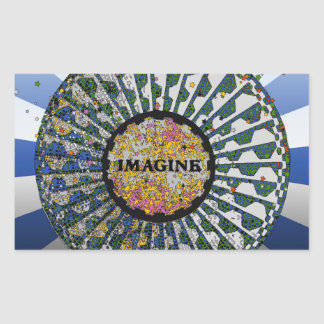 Psychedelic Imagine Mosaic Strawberry Fields B1 Rectangle Stickers