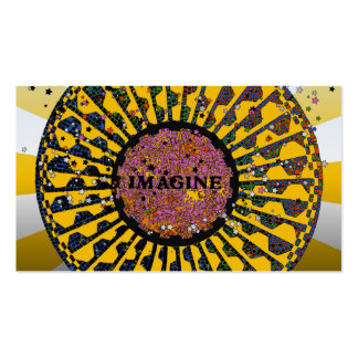 Psychedelic Imagine Mosaic, Strawberry Fields B3 Double-Sided Standard Business Cards (Pack Of 100)