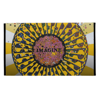 Psychedelic Imagine Mosaic, Strawberry Fields B3 iPad Folio Cover