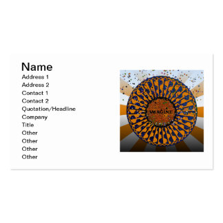 Psychedelic Imagine Mosaic, Strawberry Fields B4 Double-Sided Standard Business Cards (Pack Of 100)