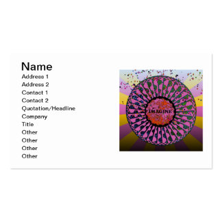 Psychedelic Imagine Mosaic, Strawberry Fields B5 Double-Sided Standard Business Cards (Pack Of 100)