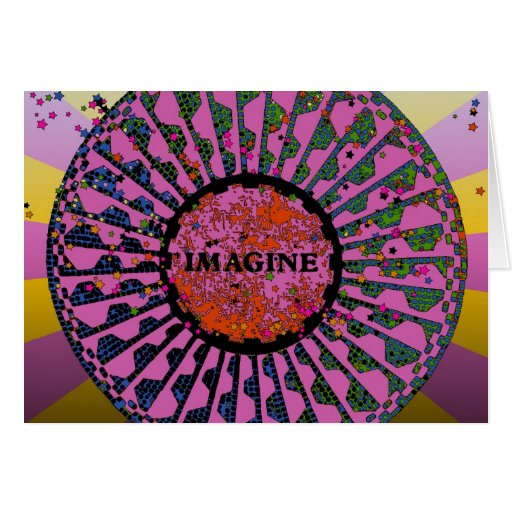 Psychedelic Imagine Mosaic, Strawberry Fields B5 Greeting Card