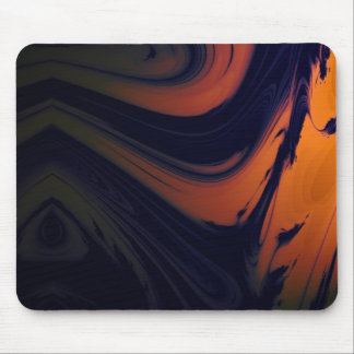 Psychedelic in Blue and Orange Mouse Pad