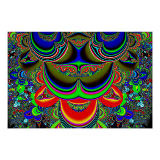 psychedelic inkblot poster