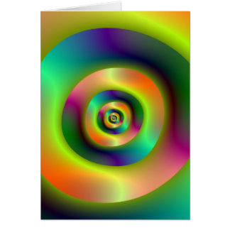 Psychedelic Inside Outside Rings Greeting Card