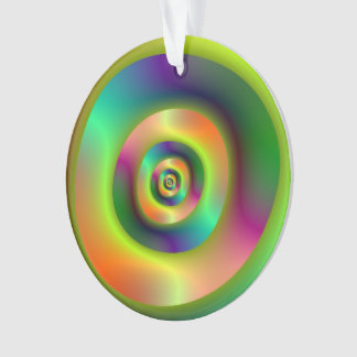 Psychedelic Inside Outside Rings Ornaments