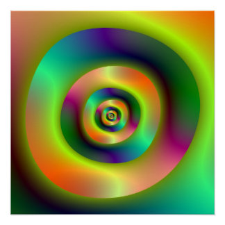 Psychedelic Inside Outside Rings Perfect Poster