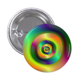 Psychedelic Inside Outside Rings Pinback Button