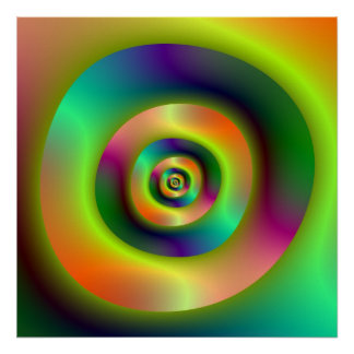 Psychedelic Inside Outside Rings Poster