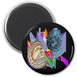 Psychedelic Jaunldzy Face 2 Inch Round Magnet