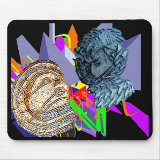 Psychedelic Jaunldzy Face Mouse Pad