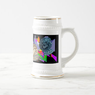 Psychedelic Jaunldzy Face 18 Oz Beer Stein