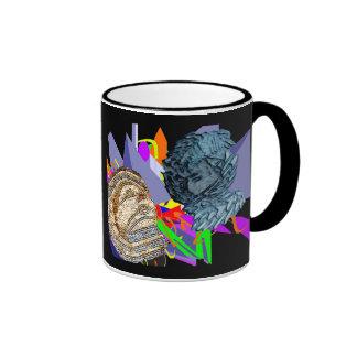 Psychedelic Jaunldzy Face Ringer Coffee Mug