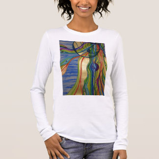 Psychedelic Jellyfish Womens Long-Sleeved T-shirt