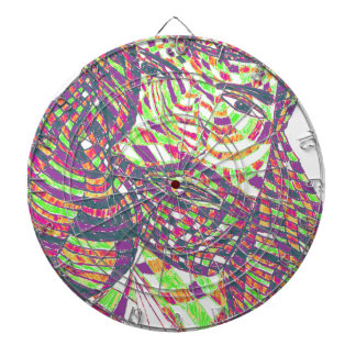 Psychedelic Jesus Christ Dartboard With Darts