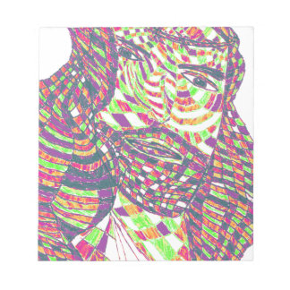 Psychedelic Jesus Christ Memo Notepads