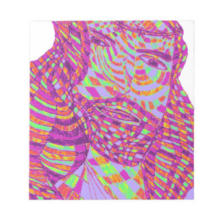 Psychedelic Jesus Christ Note Pads