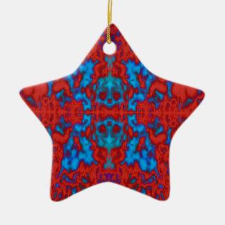 Psychedelic kaleidoscope pattern ceramic ornament