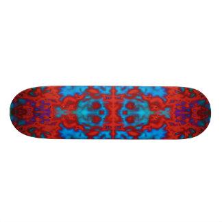 Psychedelic kaleidoscope pattern skateboard deck