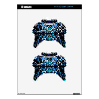 Psychedelic kaleidoscope pattern xbox 360 controller skin