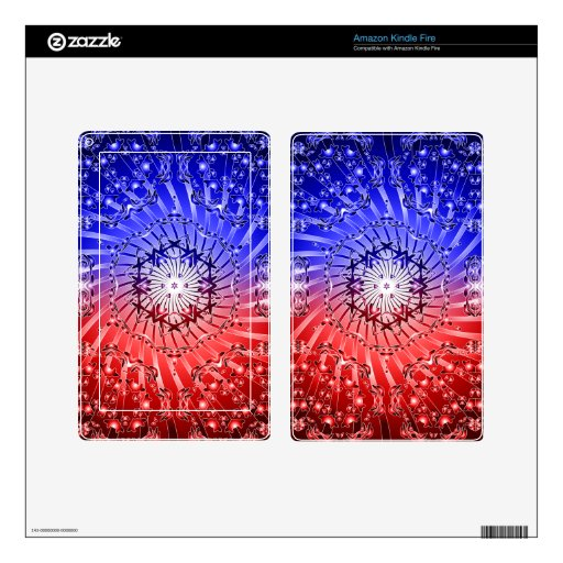 Psychedelic Kaleidoscope Spiral: Kindle Fire Skins