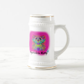 Psychedelic Kitty Beer Stein
