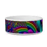Psychedelic Kitty Food Bowl Cat Bowls