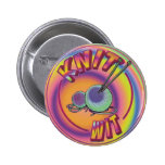 Psychedelic Knit Wit 2 Inch Round Button