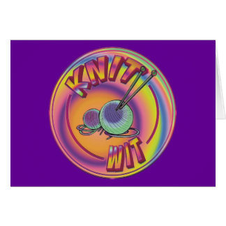 Psychedelic Knit Wit Card