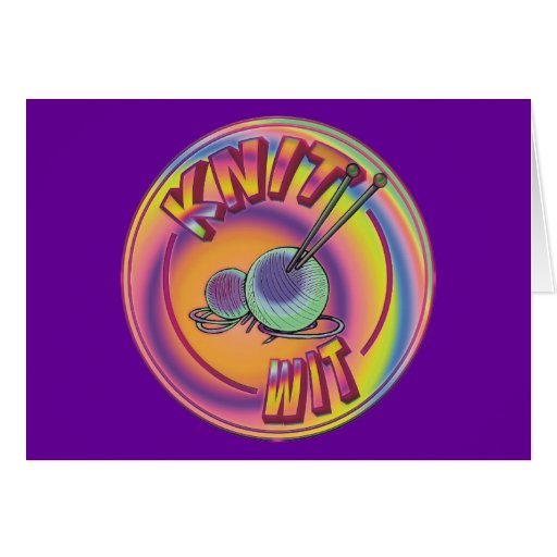 Psychedelic Knit Wit Greeting Card