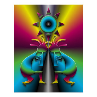 Psychedelic Kokopelli  #2 Poster