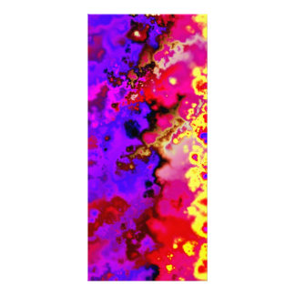 Psychedelic Lava  Bookmarks Rack Card