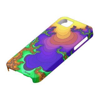 Psychedelic Lava Flow Fractal iPhone Case