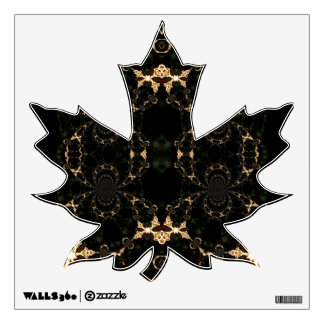 Psychedelic Leaf Wall decal
