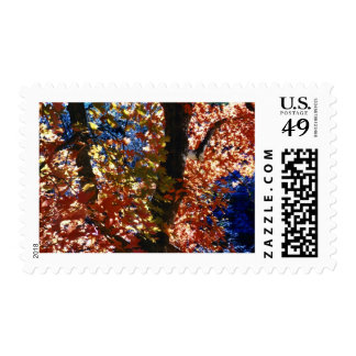 Psychedelic Leaves Postage