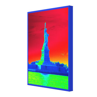 Psychedelic Liberty Canvas Print