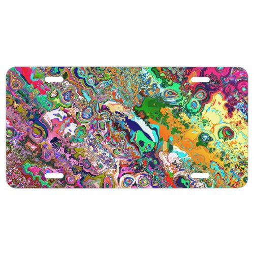 Psychedelic License Plate